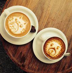 Moore's Coffee, amazing latte art.