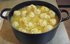 Monday-Vegan Chicken and Dumplings Had something similar (but better) yesterday. used gluten instead of morningstar chicken. its pretty much the best. Chicken N Dumplings, Vegan Dumplings, Dumpling Soup, Dumplings With Bisquick, Dumpling Recipe, Vegan Soups, Vegetarian Recipes, Vegetarian Stew, Vegetarian Chicken