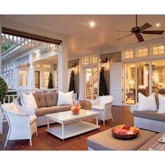 Enclosed back porch