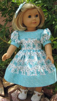 18 Inch Doll Clothes American Girl 1940s Teal and by nayasdesigns