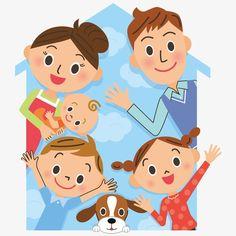Cartoon family PNG and Vector Cartoon Cartoon, Preschool Family, Family Clipart, Family Drawing, Family Theme, Kids Icon, Tatty Teddy, School Decorations, Cute Illustration