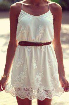 White summer dress | fashion