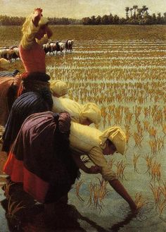 Angelo Morbelli; In The Rice Fields, 1901