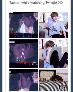 Taemin watching twilight (I hate Twilight but this is to cute not to pin)