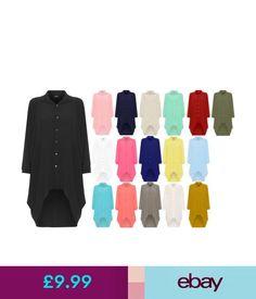 Children's Vintage Clothing Womens Batwing Sleeve Dip Hem High Low Button Collar Shirt Dress Plus Size #ebay #Fashion