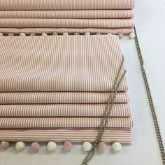 Made to measure roman blind. Cottage Blinds, House Blinds, Nursery Blinds, Bedroom Blinds, Roman Blinds, Curtains With Blinds, How To Make A Roman Blind, Store Bateau, Single Bunk Bed