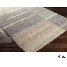 Carbon Loft Gladys Geometric Beige/ Grey Area Rug - x (Grey - x Brown Cheap Rugs, Contemporary Area Rugs, Modern Rugs, Contemporary Interior, Rectangular Rugs, Geometric Rug, Grey Carpet, Carpet Stains, Indoor Rugs