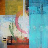 Jenny Gray GIVE SOME 30x30, acrylic on canvas,
