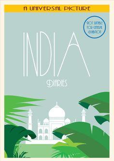 India Art Deco poster