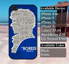 sherlock Holmes case  iPhone 4/4s iPhone5 iPhone5s by vallenshop, $13.50