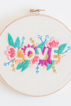 It's all you need. And this embroidery pattern. That too.