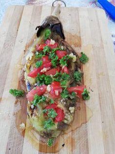 Μελιτζάνα όπως στα κάρβουνα Bruschetta, Ethnic Recipes, Food, Essen, Meals, Yemek, Eten