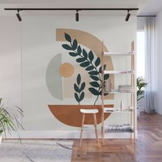 Creative Wall Painting, Wall Painting Decor, Mural Wall Art, Creative Walls, Painted Wall Murals, Succulent Wall, Bedroom Decor, Decoration, Interior Design