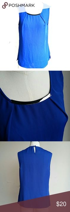 Periwinkle color top Great with leggings and boots or heels |  designed in Los Angeles | 100% polyester | great bright color Laundry by Shelli Segal Tops Blouses