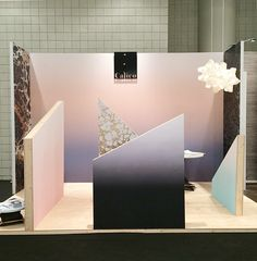 Calico Wallpaper booth ICFF 2014--debuting the new Aurora collection.