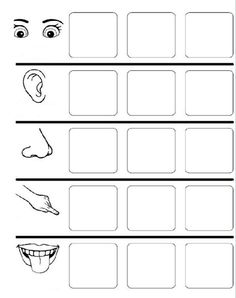 smysly 1 (smysly 2 obrázky k doplnění) Matching Worksheets, Printable Worksheets, First Grade, Pre School, Human Body, Literacy, Homeschool, Clip Art, Teaching
