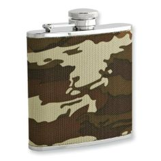 Rebel Steel Nylon Camo 5oz Stainless Steel Flask w/Funnel Perfect Gift Idea goldia. $40.65