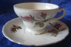 Decorative Dishes - Vintage Pink Moss Rose Cup   Saucer Gold Trim, $9.99 (http://www.decorativedishes.net/vintage-pink-moss-rose-cup-saucer-gold-trim/)