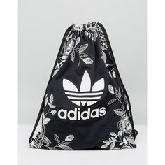 adidas Originals Farm Print Drawstring Backpack In Monochrome Floral (6.595 HUF) ❤ liked on Polyvore featuring bags, backpacks, multi, flower print backpack, floral print backpack, adidas backpack, floral rucksack and floral pattern backpack