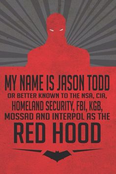 My name is Jason Todd on We Heart It Jason Todd Robin, Red Hood Jason Todd, Robin Dc, Red Hood Wallpaper, Vigilante, Dc Memes, Arkham Knight, Batman Universe, Batman Family