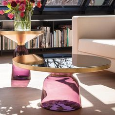 The Bell Coffee Table was created by designer Sebastian Herkner for ClassiCon.looove the coffee table Brass Side Table, Brass Coffee Table, Round Coffee Table, Side Tables, Table Furniture, Home Furniture, Furniture Design, Plywood Furniture, Unique Furniture
