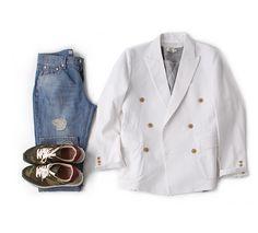린넨마소재 더블 자켓(블레이져)-jacket21 - [존클락]30대 남자옷쇼핑몰, 깔끔한 캐쥬얼 데일리룩, 추천코디