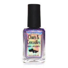 Chaos and Crocodiles - Decoy Holo Nail Polish, Holographic Nail Polish, Crocodiles, Perfume Bottles, Indie, Beauty, Cosmetics, Crocodile, Perfume Bottle