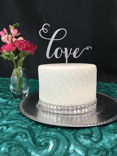 Psweddingsandevents This Listing Is For 1 Love Cake Topper Made