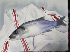 La pêche de Denis, sur papier Fabriano 300gr satiné