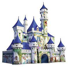Amazon.com: Ravensburger Disney Castle 3D Puzzle (216 Piece): Toys & Games Chateau Princesse Disney, Chateau Disney, Disney Princess Castle, Cinderella Castle, Cinderella Princess, Ravensburger Puzzle, Pixar, 3d Drawings, Disney Drawings