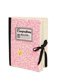 Embellished Notebook Clutch