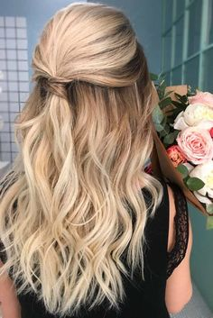 Half Up Half Down Prom Hairstyles Youll Fall In Love With ★ See more: http://lovehairstyles.com/half-up-half-down-prom-hairstyles/
