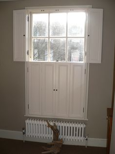 Traditional Solid 2 Tier Window Shutters