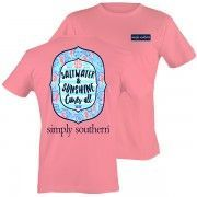 Simply Southern Pink Saltwater & Sunshine Cures All Short Sleeve T-Shirt