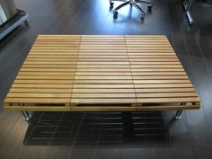 Modern slat coffee table - IKEA Hackers - IKEA Hackers