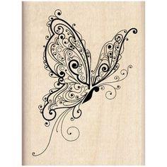 Inkadinkado® Wood Stamp, Butterfly