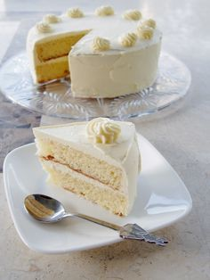 Moist Vanilla Cake Recipe | The result? A lovely, moist layered vanilla cake, and probably the ...
