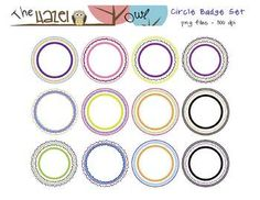 FREE Circular Frames!  Great for creating classroom labels, flash cards, & other classroom materials!
