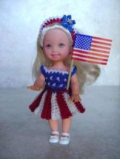American Spirit - Free crochet pattern, Kelly doll clothes