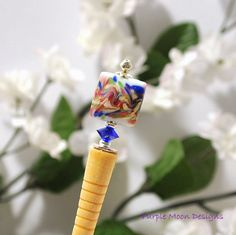 """""""Over the Rainbow"""" - Colorful Hairstick, Beaded Hair Chopstick"""