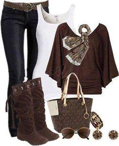 Casual - marron et jeans.