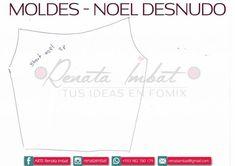 Papá Noel Fofucho en calzones con moldes - Marina Creativa Chart, V Neck, Yorkshire, Women, Facebook, Adhd, Christmas, Christmas Crafts, Baby Dolls