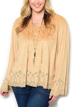 http://www.dhstyles.com/Tan-Plus-Size-Trendy-Embroidered-Cut-Out-Belled-Sl-p/shop-6303422x-tan.htm