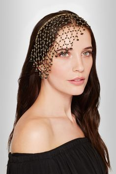 Rosantica|Carmen gold-tone onyx headband|NET-A-PORTER.COM