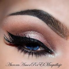 Beautiful dirty pink and brown with sparkle touch