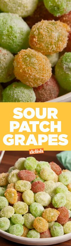 Sour Patch Grapes are the most addictive thing you'll ever eat. Get the recipe on Delish.com.