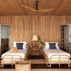 VEERE GRENNEY, his house in carribean. Discover bedroom design ideas on HOUSE - design, food and travel by House & Garden including a redesigned bamboo house on the Caribbean island of Mustique Serene Bedroom, Home Bedroom, Bedroom Wall, Bedroom Decor, Bedroom Ideas, Bedroom Designs, Wall Decor, Bamboo House Design, Bamboo Architecture