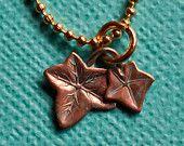 Fallen ivy necklace, $9