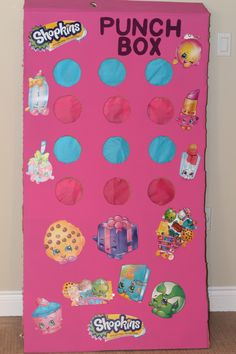 Shopkins Punch Box used for prizes