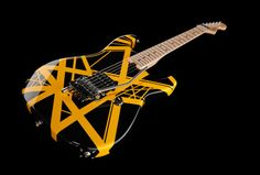 Evh Stripe Black, finish: black with yellow stripes #evh #guitar #thomann